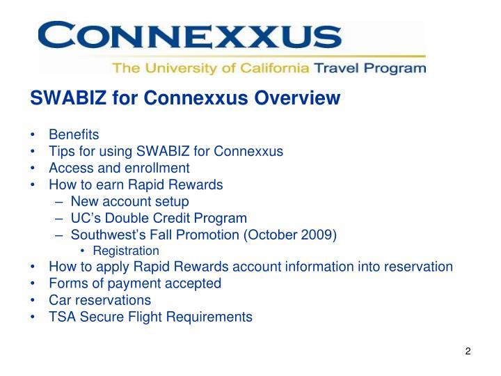 SWABIZ for Connexxus Overview
