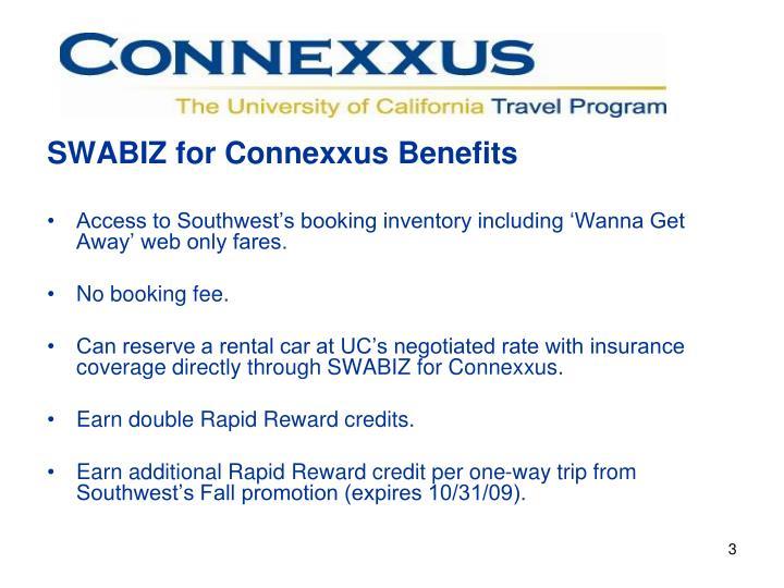 SWABIZ for Connexxus Benefits