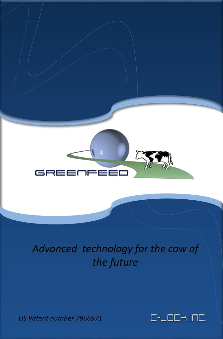 Advanced  technology for the cow of the future