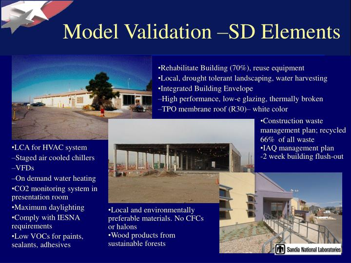 Model Validation –SD Elements