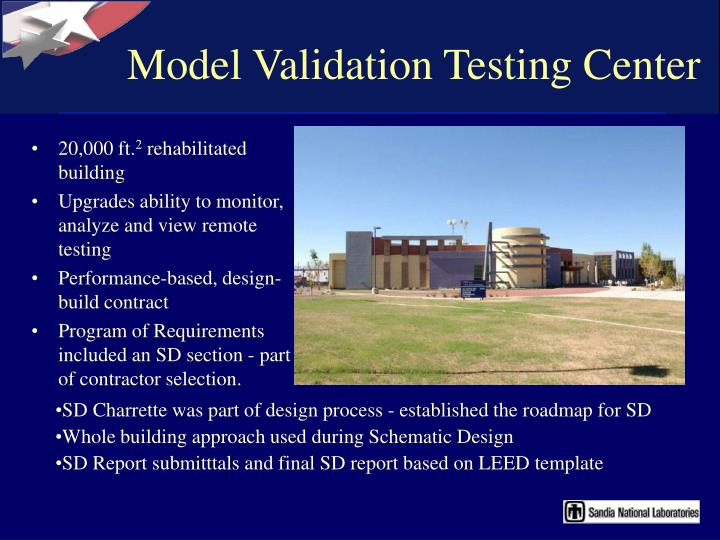 Model Validation Testing Center