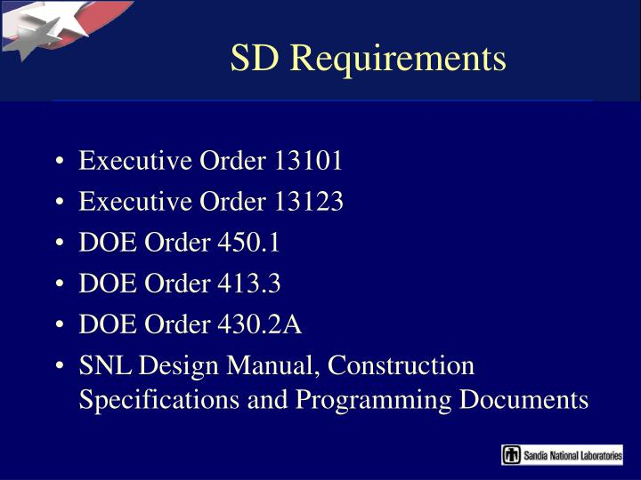SD Requirements
