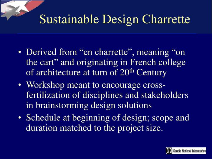 Sustainable Design Charrette