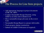 the process for line item projects