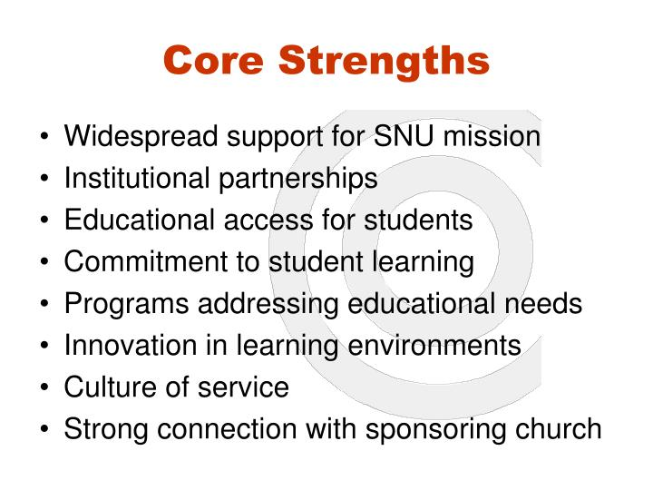 Core Strengths