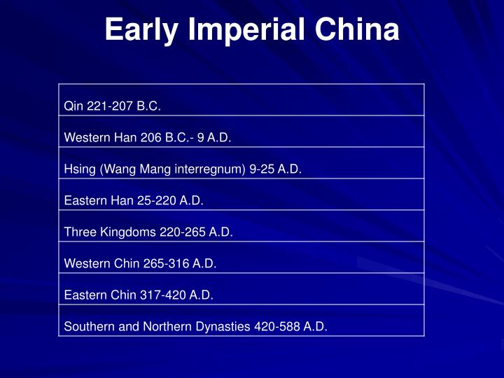 Early imperial china