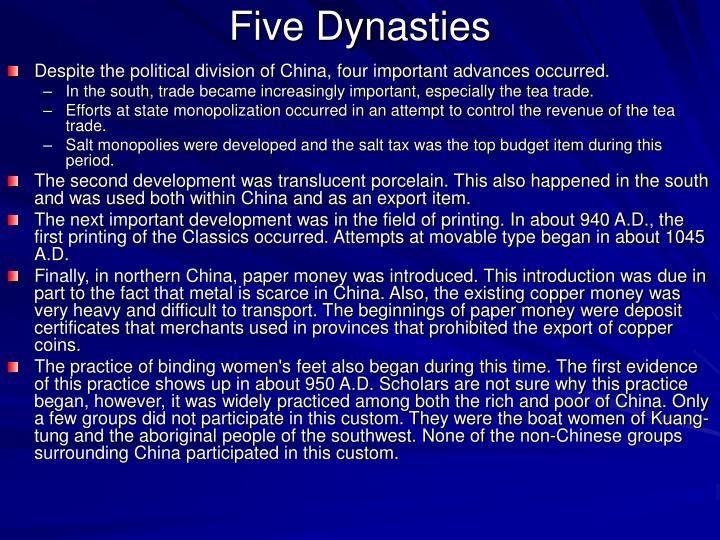 Five Dynasties