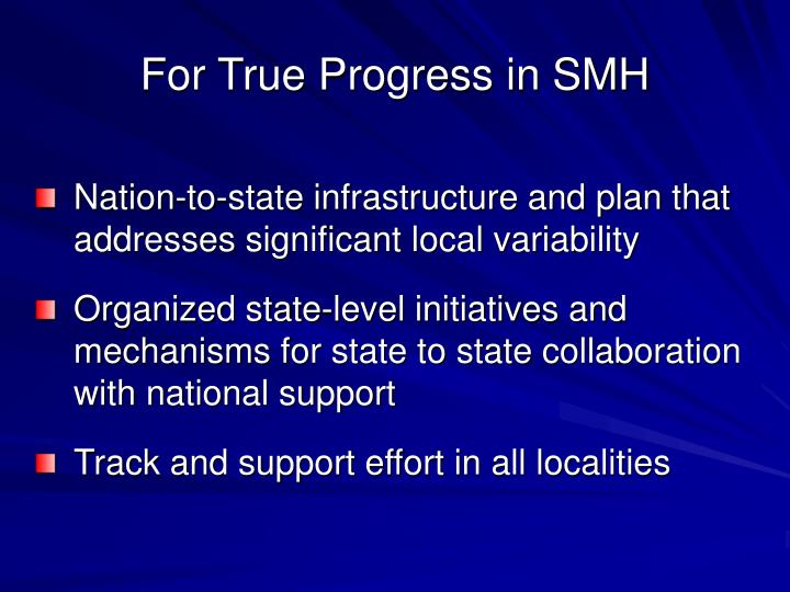 For True Progress in SMH