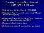 growing focus on school mental health smh in the u s