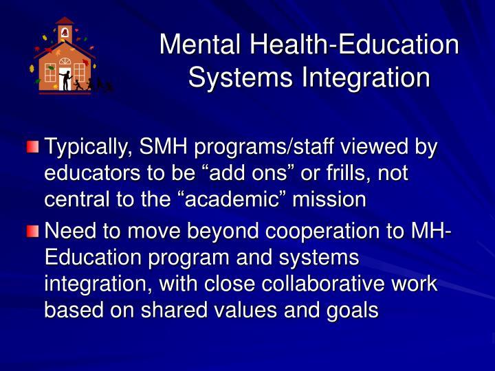 Mental Health-Education Systems Integration