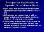 principles for best practice in expanded school mental health