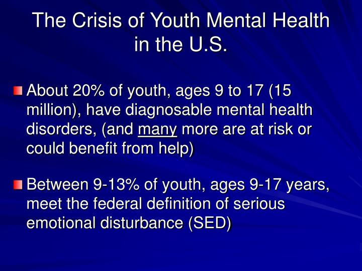 The Crisis of Youth Mental Health in the U.S.