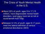 the crisis of youth mental health in the u s