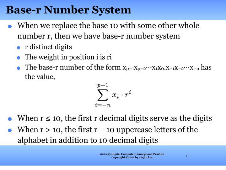 Base-r Number System
