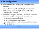number systems1