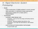 iv rapid electronic system prototyping