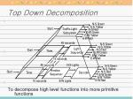 top down decomposition