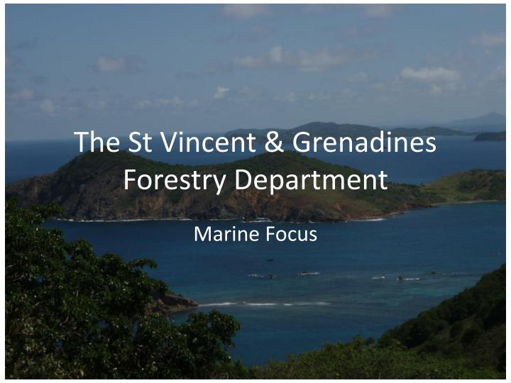 the st vincent grenadines forestry department