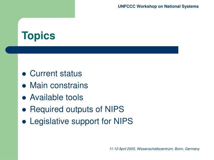 UNFCCC Workshop on National System