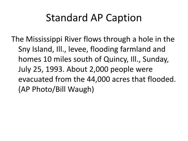 Standard AP Caption