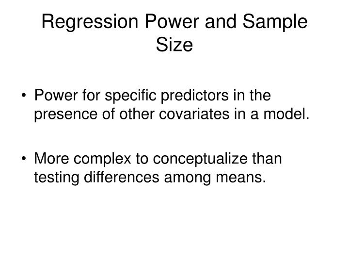 Regression Power and Sample Size