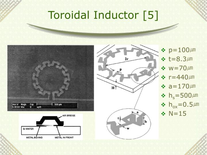 Toroidal Inductor [5]