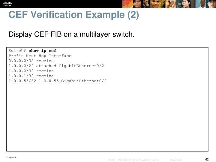 CEF Verification Example (2)