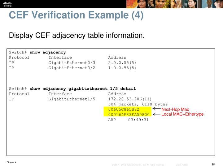 CEF Verification Example (4)