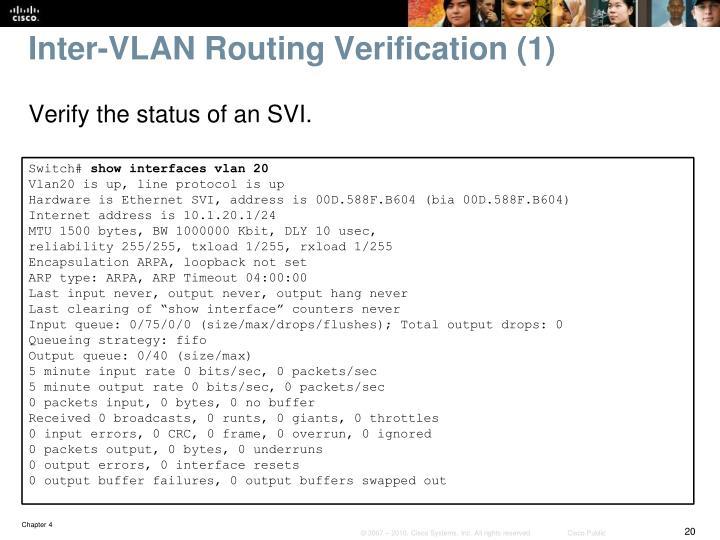Inter-VLAN Routing Verification (1)