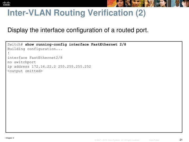 Inter-VLAN Routing Verification (2)