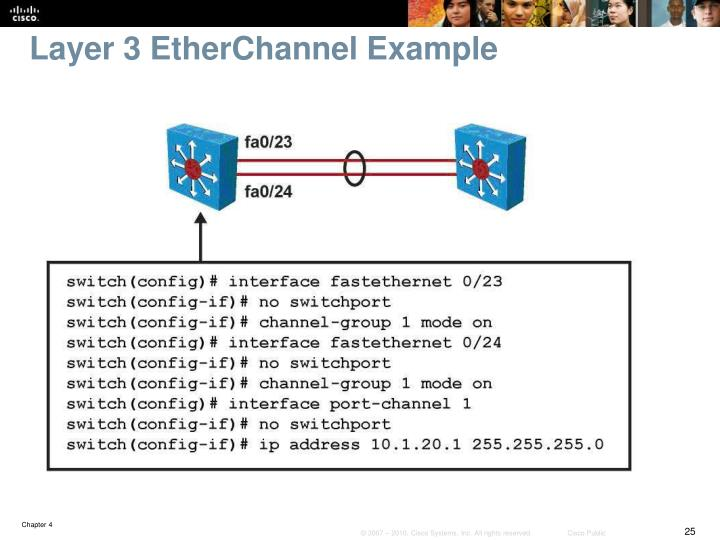 Layer 3 EtherChannel Example