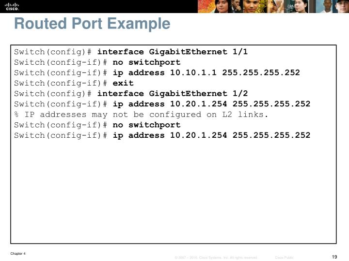 Routed Port Example