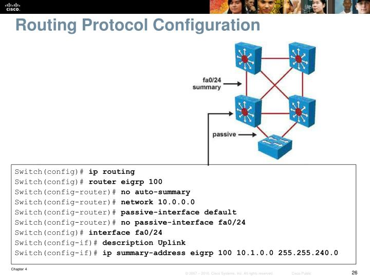 Routing Protocol Configuration