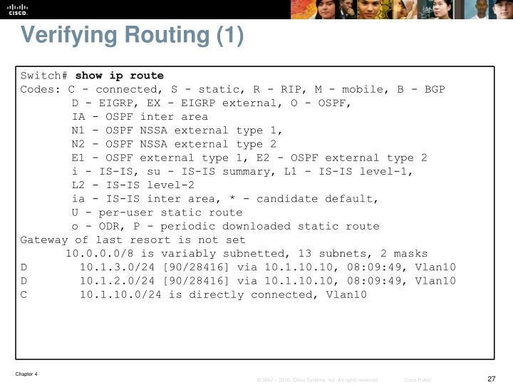 Verifying Routing (1)