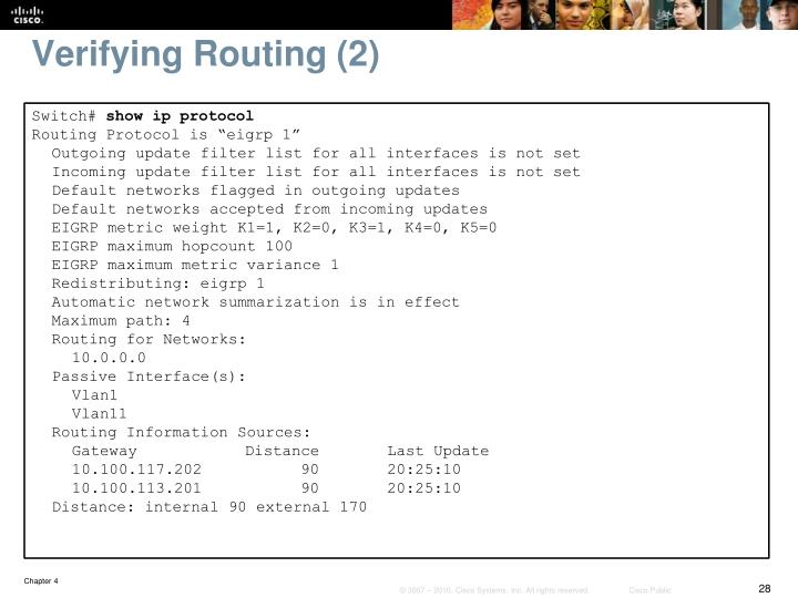 Verifying Routing (2)