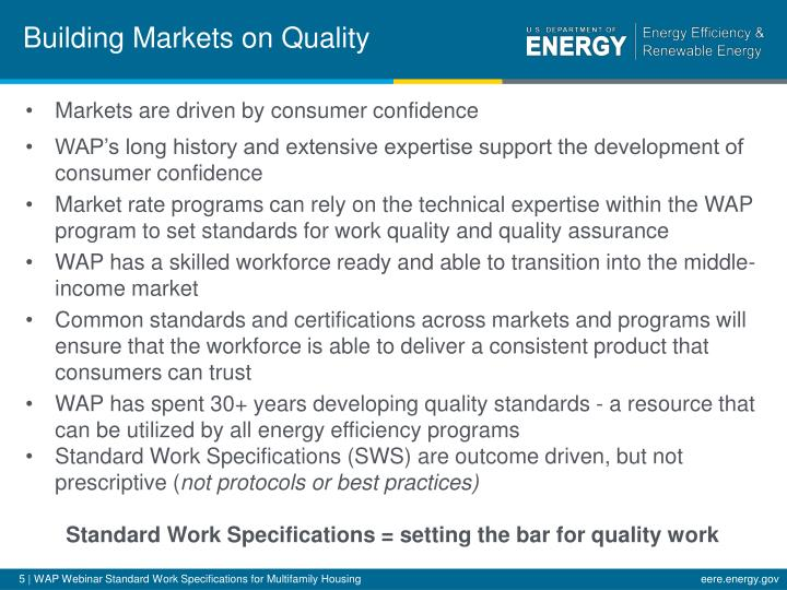 Building Markets on Quality