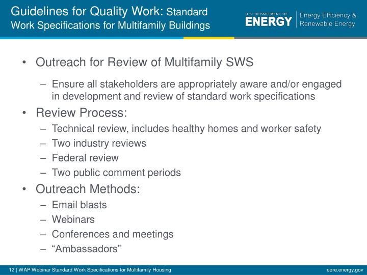 Guidelines for Quality Work:
