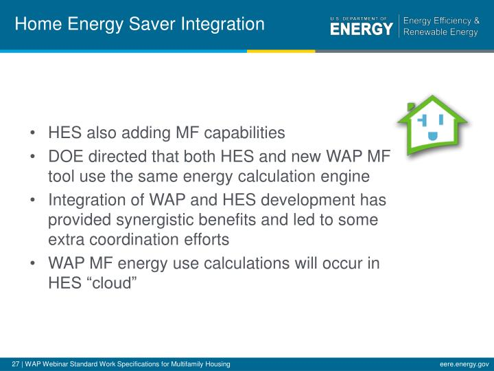 Home Energy Saver Integration