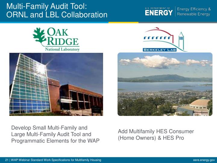 Multi-Family Audit Tool: