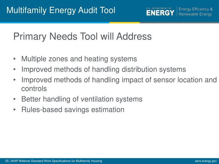 Multifamily Energy Audit Tool