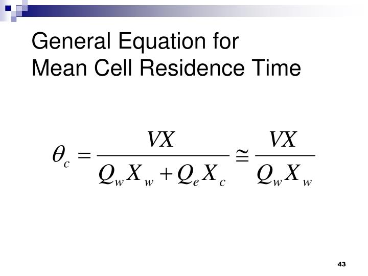 General Equation for