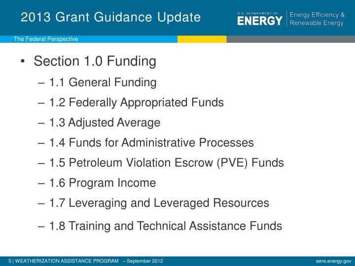 2013 Grant Guidance