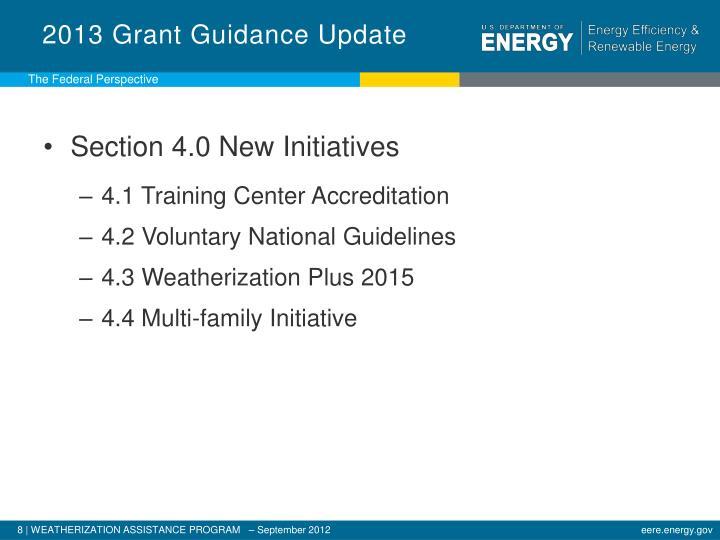 2013 Grant Guidance Update