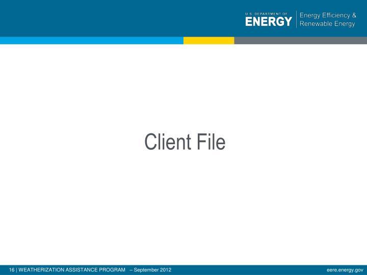 Client File