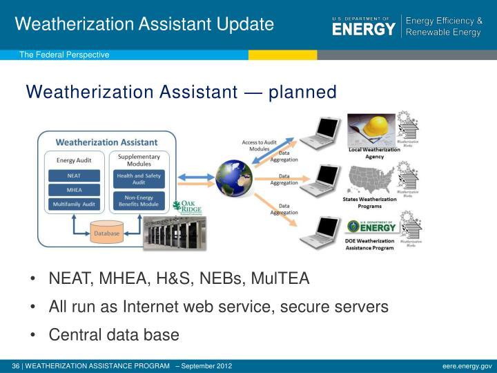 Weatherization Assistant Update