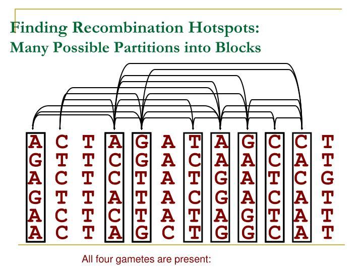 Finding Recombination Hotspots: