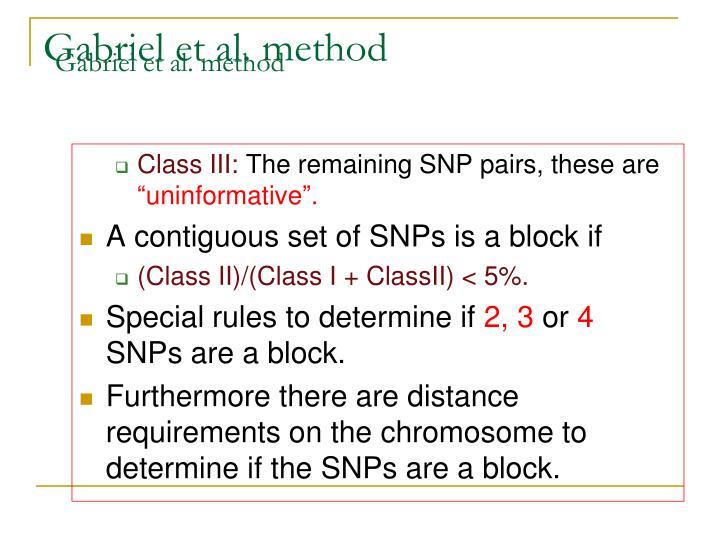 Gabriel et al. method