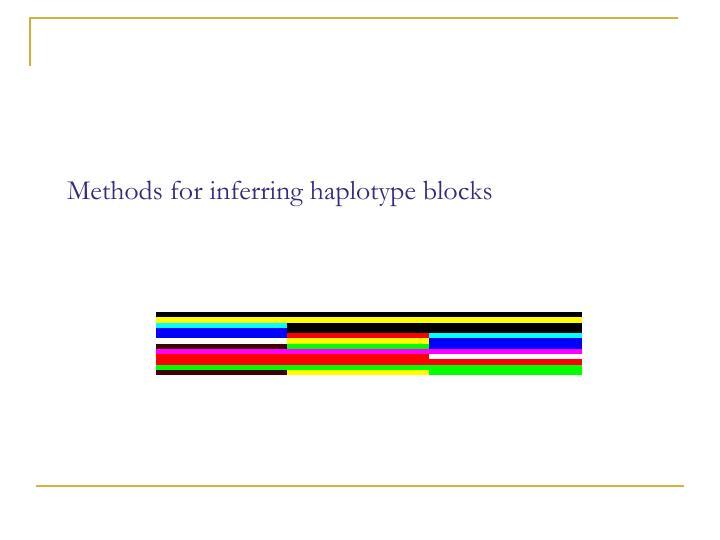 Methods for inferring haplotype blocks
