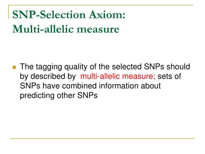 SNP-Selection Axiom: