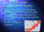 current stats 1999 annual report